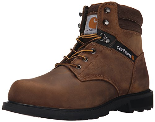 Carhartt Men's Traditional Welt 6' Steel Toe Work Boot Construction, Crazy Horse Brown Oil Tanned, 8.5 Wide