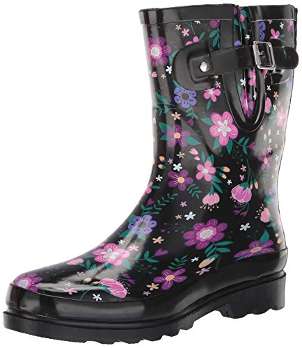 Western Chief Women's mid-calf waterproof rain boots, Blossoming Mid, 8 M US