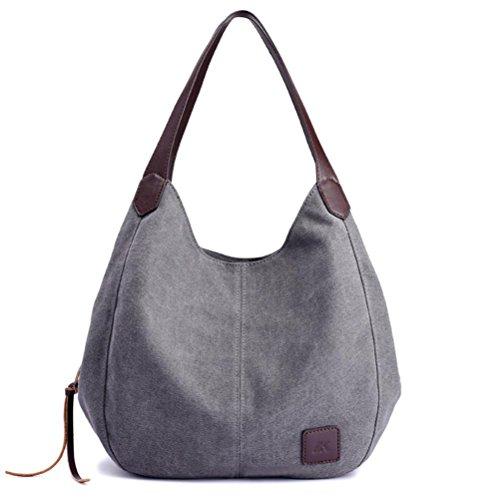 Clearance!Women Shoulder Bags,Todaies Women Canvas Handbags Vintage Female Single Shoulder Bags 2018 (30cm(L)13cm(W)28cm(H), Gray)