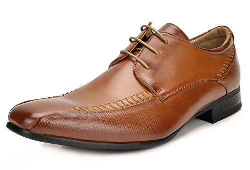 Bruno Marc Men's Gordon-01 Brown Classic Modern Formal Oxfords Lace Up Leather Lined Snipe Toe Dress Shoes - 10 M US
