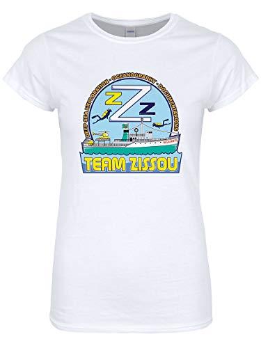 Real Slick Tees Women's Team Zissou T-Shirt White