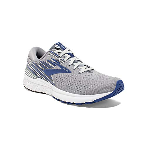 Brooks Men's Adrenaline GTS 19, Grey/Blue, 10.5 EEEE