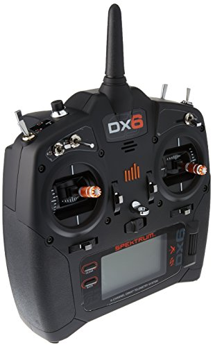 Spektrum Dx6 G3 System with Ar6600T Rx Md2 (Transmitter and Receiver) Radio System, Black