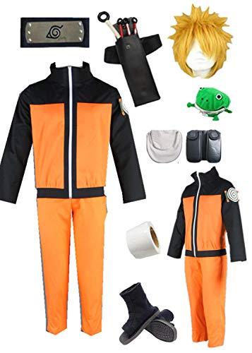 YOUYI Naruto Uzumaki Anime Halloween Cosplay Costume (S) Orange