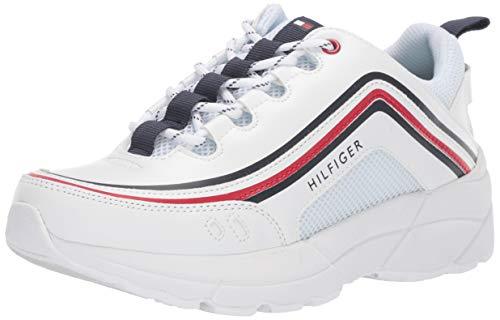 Tommy Hilfiger Women's Essi Sneaker, White, 8.5