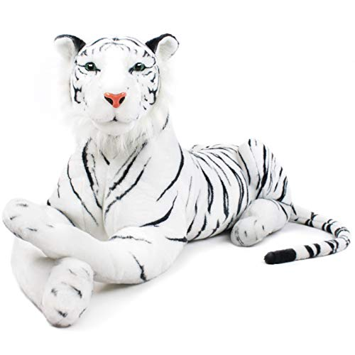 VIAHART Timurova The White Siberian Tiger | 42 Inch Long (Tail Measurement Not Included!) Big Stuffed Animal Plush Cat | Shipping from Texas | by Tiger Tale Toys