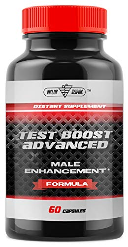 Test Boost Advanced Supplement for Men - Increase Stamina & Build Muscle Mass - Boost Energy, Mood, Endurance, Strength - All Natural Performance Supplement - 60 Capsules