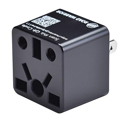 ROAD WARRIOR US Travel Plug Adapter EU/UK/CN/AU/IN to USA (Type A) - RW111BK-US