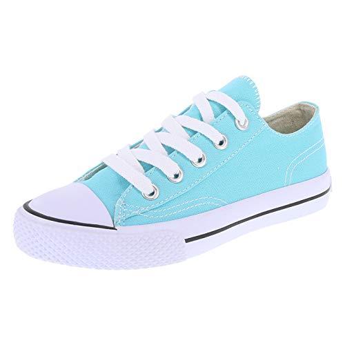 Airwalk Turquoise Canvas Kids' Legacee Sneaker 6 Regular