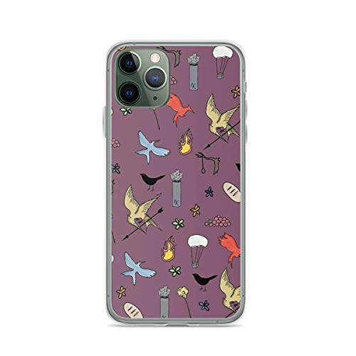 Phone Case Hunger Games Quality Pattern - Purple Version Compatible with iPhone 6 6s 7 8 X XS XR 11 Pro Max SE 2020 Samsung Galaxy Charm Absorption