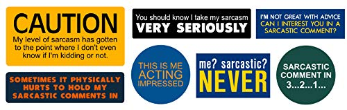 sarcasm batch, I Make Decals , funny, humor, Hard Hat, lunch box, tool box, Helmet Stickers 3.7'x11.69'