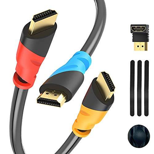 HUAI XIAN KE 3Pack 4K HDMI Cable, High Speed HDMI 2.0 Cable, 2160P, 1080P, HDR, 18Gbps HDMI Cord Compatible with HDMI-Equipped TV, Monitor, PS4/3, Xbox One, Fire TV & More (10ft)
