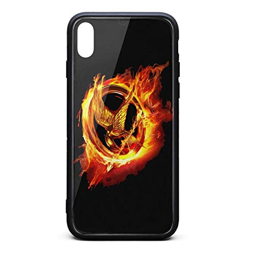 The Film Hung-er Games Phone Case for Iphonxs Max Basic Shock-Absorbing Rubber Frame Tempered Glass Covers Phone Case