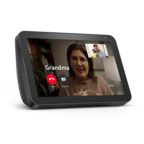 Echo Show 8 -- HD smart display with Alexa – stay connected with video calling - Charcoal