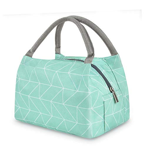 Lunch Bags for Women Men, Insulated Lunch Tote Bag Lunch Box Portable Cooler Container for Work Picnic Travel School, Green