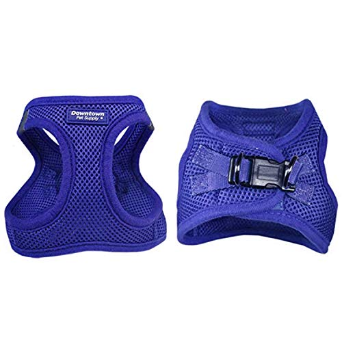 Downtown Pet Supply No Pull, Step in Adjustable Dog Harness with Padded Vest, Easy to Put on Small, Medium and Large Dogs (Blue, M)