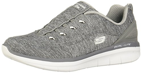 Skechers Synergy 2.0 Scouted Womens Slip On Sneakers Gray 8 W
