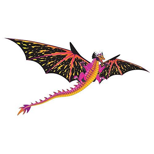 WindNSun Fantasy Fliers Nylon Kite, Dragon, 64 Inches Wide