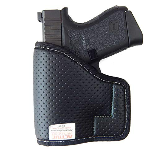 Active Pro Gear Compact Pocket Gun Holster for Concealed Carry | Concealment Pocket Holster | S&W Shield, Glock 43, SIG P365 | Non-Slip | USA (Black, Size: 25K)