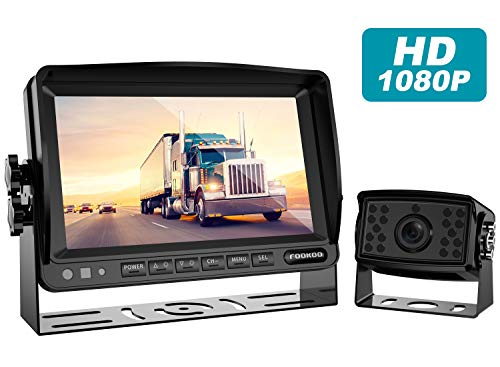 Fookoo Ⅱ HD Backup Camera System Kit,7''1080P Reversing Monitor+IP69 Waterproof Rear View Camera,Sharp CCD Chip, 100% Not Wash Up,Truck/Semi-Trailer/Box Truck/RV (FHD1-Wired)