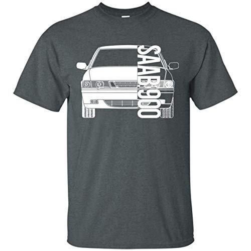 WheelSpinAddict Men's Saab 900 S SE T-Shirt Dark Heather
