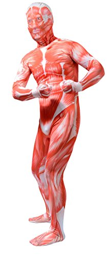 ATHX Mens and Womens Full Body Zentai Spandex Costume Bodysuits (Small, Muscle)