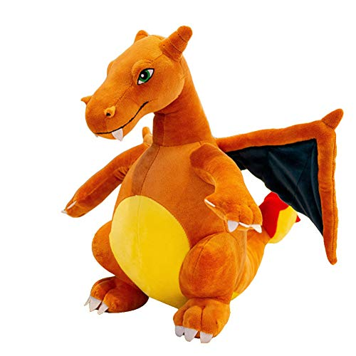 krisphily Evolutive Winged fire-Breathing Dragon Stuffed Animal Dinosaurs Plush Doll Charizard Baby Toys 13'(Orange)
