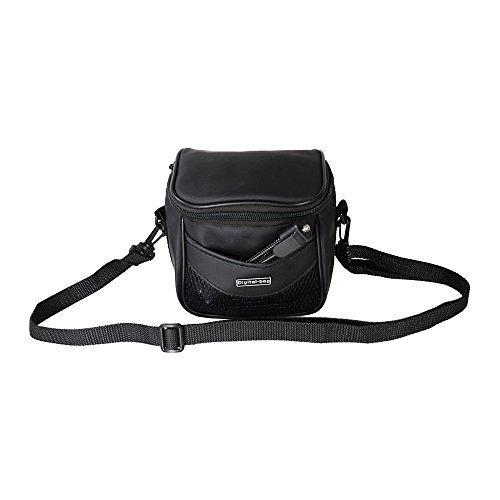 Foto&Tech Small Faux Leather Camera Bag with Strap Compatible with Fujifilm Samsung Sony Olympus Panasonic Canon Nikon Pentax Point-and-Shoot and Compact Cameras