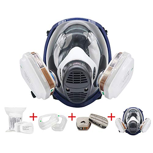 EROCK 15 in1 Full Face Respirator Widely Used in Organic Gas,Paint Sprayer, Chemical,Woodworking,Dust Protector