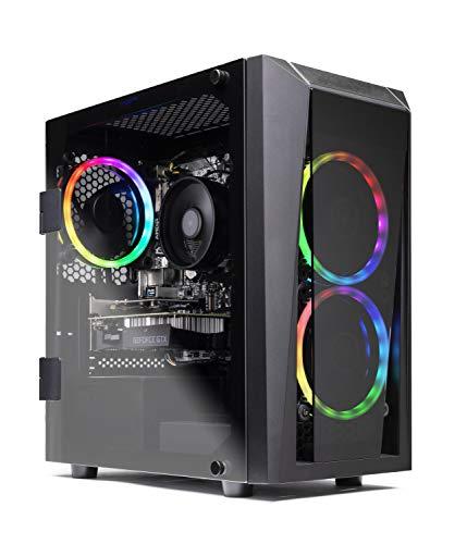 SkyTech Blaze II Gaming Computer PC Desktop – Ryzen 5 2600 6-Core 3.4 GHz, NVIDIA GeForce GTX 1650 4G, 500G SSD, 8GB DDR4, RGB, AC WiFi, Windows 10 Home 64-bit
