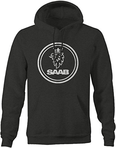 Saab Mens Sweatshirt - XLarge Charcoal