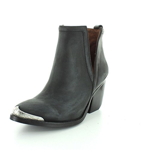 Jeffrey Campbell Womens Cromwell Black Distressed Boot - 8.5