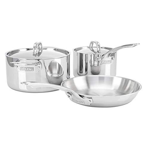 Viking 3-Ply Stainless Steel Cookware Set, 5 Piece