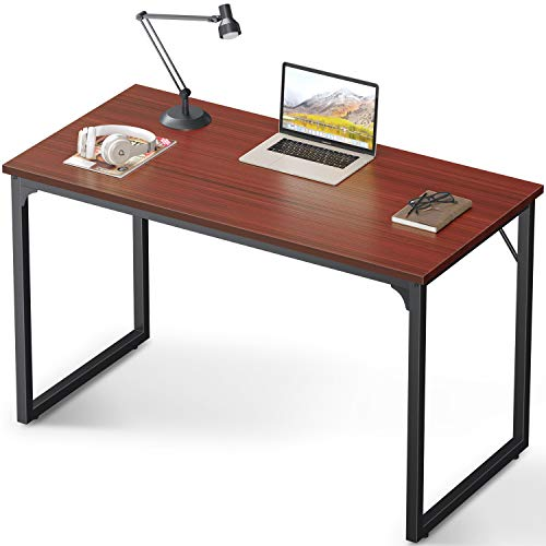 Coleshome Computer Desk 47', Modern Simple Style Desk for Home Office, Sturdy Writing Desk,Teak