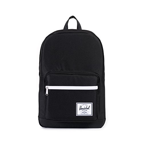 Herschel Pop Quiz Backpack, Black/Black Synthetic Leather, Classic 22L