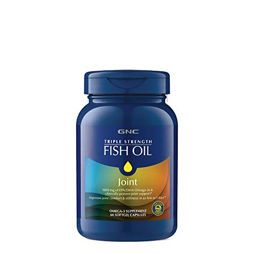 GNC Triple Strength Fish Oil Plus Joint, 60 Softgels, for Join, Skin, Eye, and Heart Health