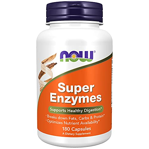 NOW Foods Supplements, Super Enzymes, Formulated with Bromelain, Ox Bile, Pancreatin and Papain, 180 Capsules