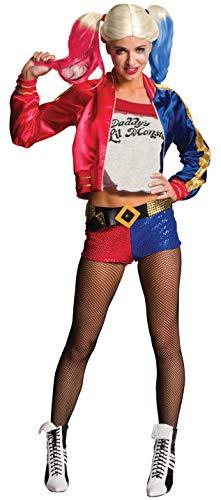 Rubie's Costume Co Women's Suicide Squad Deluxe Harley Quinn Costume, Multi, Small