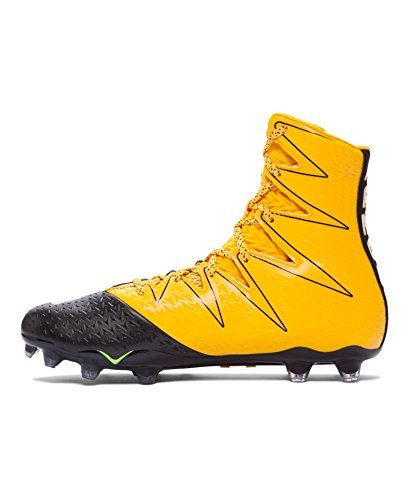 Under Armour New Mens Highlight MC Lacrosse/Football Cleats Black/Yellow Sz 9M