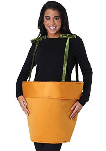 Adult Flower Pot Costume Standard Orange