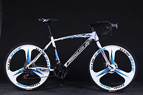 lkoezi 700c Road Bike City Commuter Bicycle, 26 Inch Mountain Bike 21 Speed Disc Brakes Bike Aluminum Full Suspension Road Bike Sports Cycling MTB Bike for Adult Men Women Teens (Black)