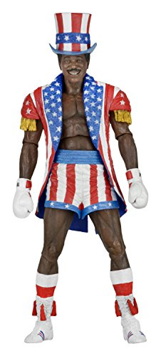 NECA Rocky 40Th Anniversary Scale Action Figure Series 2 Apollo (Uncle Sam Hat and Coat), 7'
