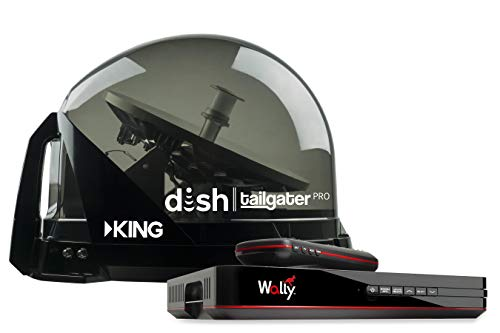KING DTP4950 DISH Tailgater Pro Bundle - Premium Portable/Roof Mountable Satellite TV Antenna and DISH Wally HD Receiver