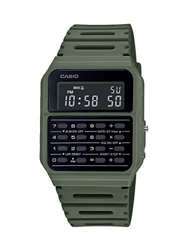 Casio Data Bank Quartz Watch with Resin Strap, Green, 24.1 (Model: CA-53WF-3BCF)