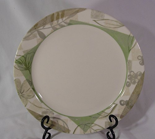 Corelle Textured Leave Pattern 10.25' Dinner Plates Set of 4