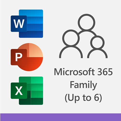 Microsoft 365 Family   12-Month Subscription, up to 6 people   Premium Office Apps   1TB OneDrive cloud storage   PC/Mac Download