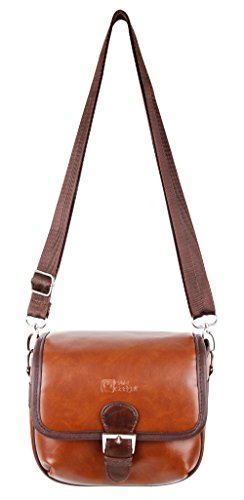 DURAGADGET Small Brown PU Leather Satchel Carry Bag - Compatible with Gaosa 10261559