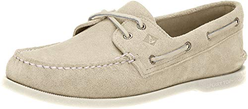 Sperry mens Authentic Original Summer Suede loafers shoes, Cement, 11.5 US