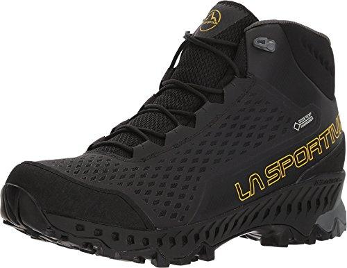 La Sportiva Stream GTX Hiking Shoe, Black/Yellow, 43