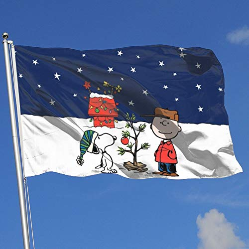 Stockdale Christmas Peanuts Garden Flag Vivid Color Outdoor Decoration 3x5 Ft